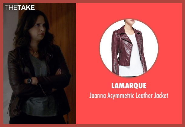 LaMarque red jacket from Scandal seen with Quinn Perkins (Katie Lowes)