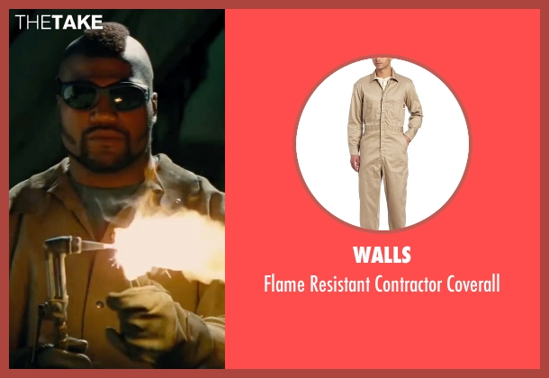 Walls brown coverall from The A-Team seen with Quinton 'Rampage' Jackson (B.A. Baracus)