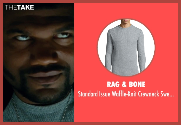 Rag & Bone gray sweater from The A-Team seen with Quinton 'Rampage' Jackson (B.A. Baracus)