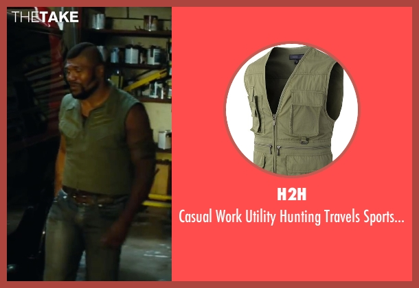 H2H green vest from The A-Team seen with Quinton 'Rampage' Jackson (B.A. Baracus)