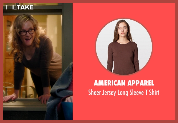 American Apparel brown shirt from Barely Lethal seen with Rachael Harris (Mrs. Larson)