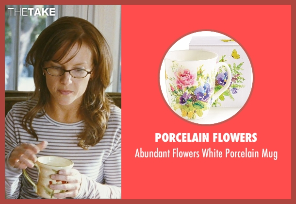 Porcelain Flowers mug from The Hangover seen with Rachael Harris (Melissa)