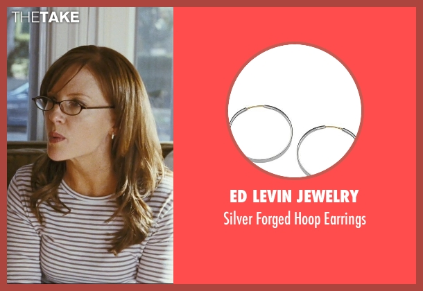 Ed Levin Jewelry silver earrings from The Hangover seen with Rachael Harris (Melissa)