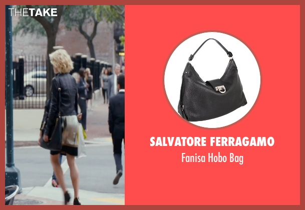 Salvatore Ferragamo black bag from The Loft seen with Rachael Taylor (Anne Morris)