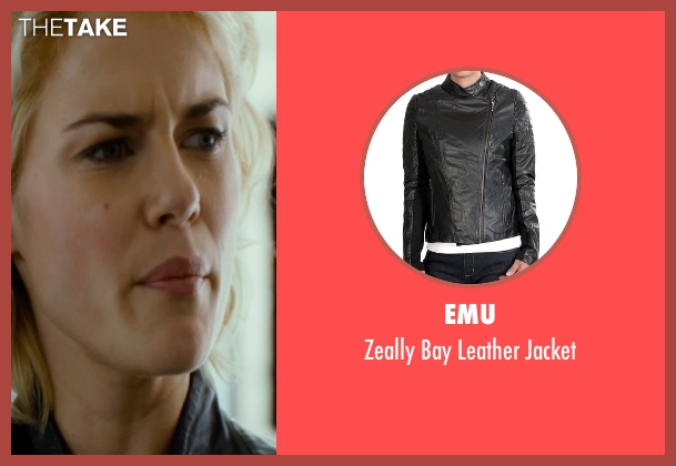 Emu black jacket from The Loft seen with Rachael Taylor (Anne Morris)
