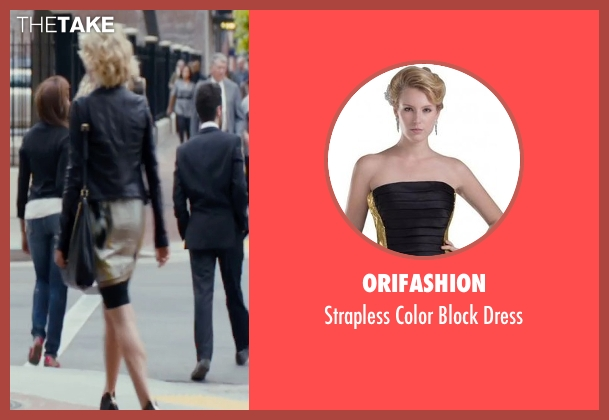 Orifashion yellow dress from The Loft seen with Rachael Taylor (Anne Morris)