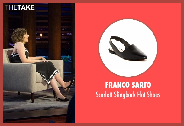 Franco Sarto black shoes from Chelsea seen with Rachel Bloom