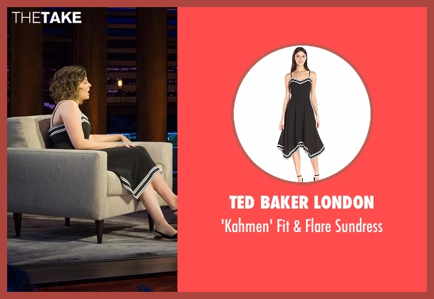 Ted Baker London black sundress from Chelsea seen with Rachel Bloom