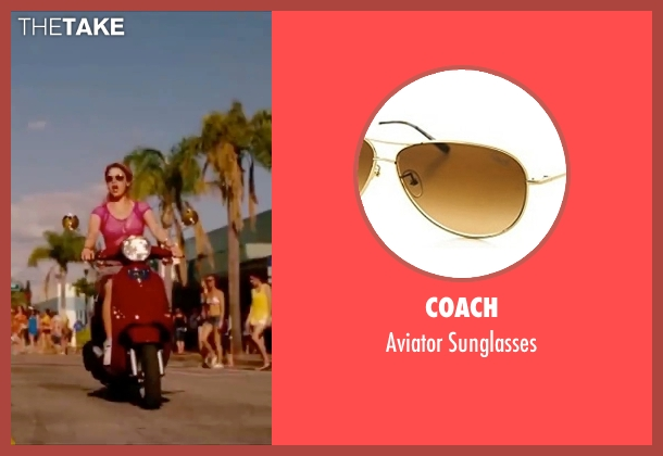 Coach gold sunglasses from Spring Breakers seen with Rachel Korine (Cotty)