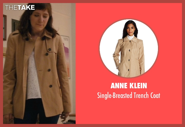Anne Klein beige coat from Master of None seen with Rachel (Noël Wells)