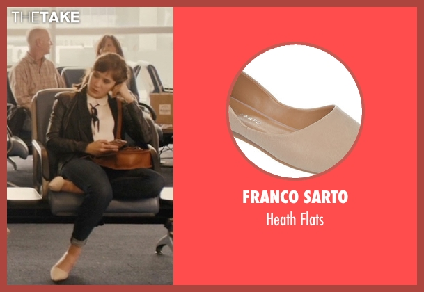 Franco Sarto beige flats from Master of None seen with Rachel (Noël Wells)