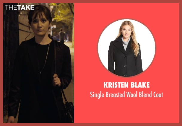 Kristen Blake black coat from Master of None seen with Rachel (Noël Wells)