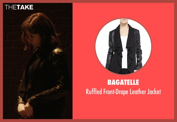Bagatelle black jacket from Master of None seen with Rachel (Noël Wells)
