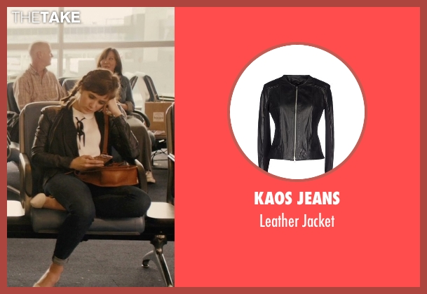 Kaos Jeans black jacket from Master of None seen with Rachel (Noël Wells)