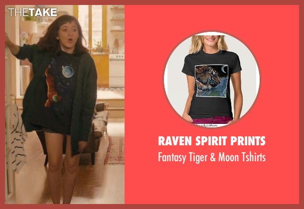 Raven Spirit Prints black tshirts from Master of None seen with Rachel (Noël Wells)