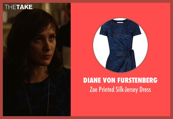 Diane Von Furstenberg blue dress from Master of None seen with Rachel (Noël Wells)