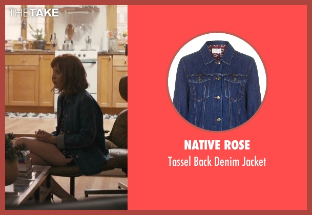 Native Rose blue jacket from Master of None seen with Rachel (Noël Wells)