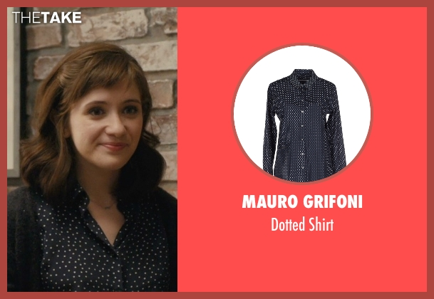 Mauro Grifoni blue shirt from Master of None seen with Rachel (Noël Wells)