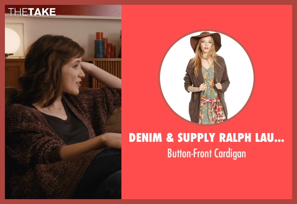 Denim & Supply Ralph Lauren brown cardigan from Master of None seen with Rachel (Noël Wells)