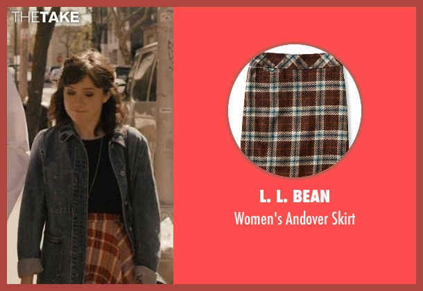 L. L. Bean brown skirt from Master of None seen with Rachel (Noël Wells)