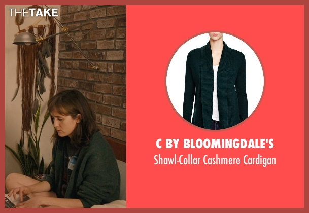 C By Bloomingdale's green cardigan from Master of None seen with Rachel (Noël Wells)