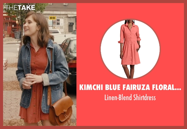Eileen Fisher orange shirtdress from Master of None seen with Rachel (Noël Wells)