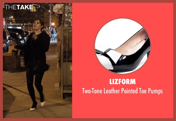 rachel 39 s lizform two tone leather pointed toe pumps from master of none season 1 episode 7. Black Bedroom Furniture Sets. Home Design Ideas