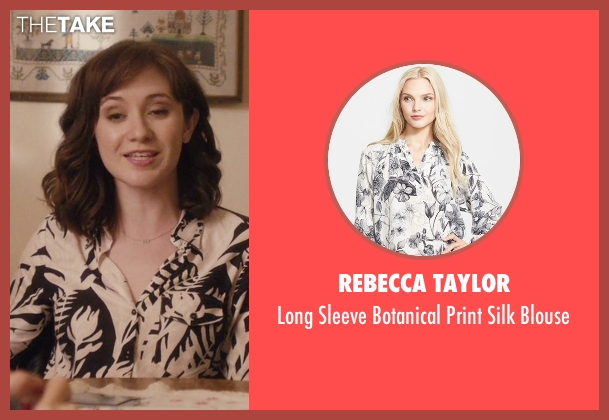 Rebecca Taylor white blouse from Master of None seen with Rachel (Noël Wells)