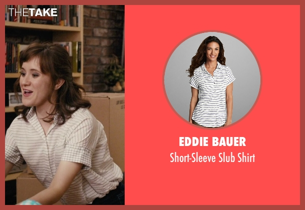 Eddie Bauer white shirt from Master of None seen with Rachel (Noël Wells)