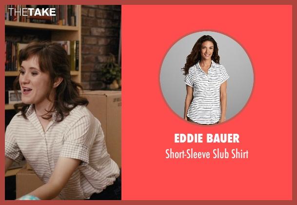 rachel 39 s white eddie bauer short sleeve slub shirt from master of none season 1 episode 9. Black Bedroom Furniture Sets. Home Design Ideas