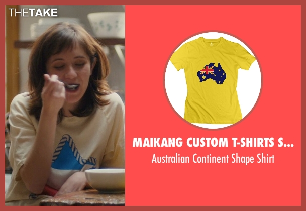 Maikang Custom T-Shirts Store yellow shirt from Master of None seen with Rachel (Noël Wells)