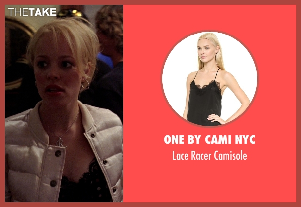 One By Cami Nyc black camisole from Mean Girls seen with Rachel McAdams (Regina George)