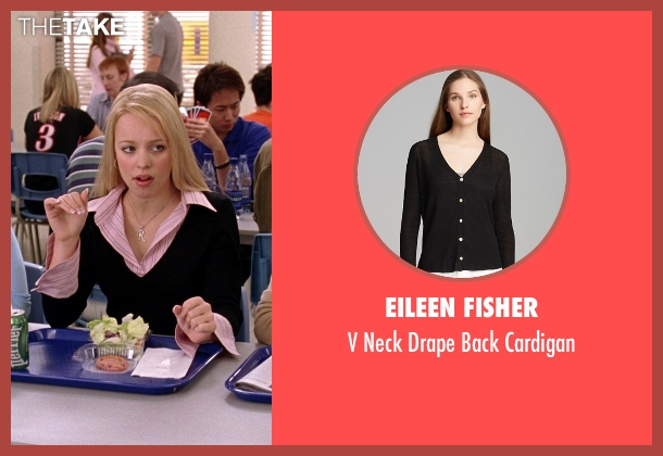 Eileen Fisher black cardigan from Mean Girls seen with Rachel McAdams (Regina George)
