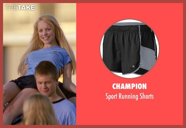 Champion black shorts from Mean Girls seen with Rachel McAdams (Regina George)