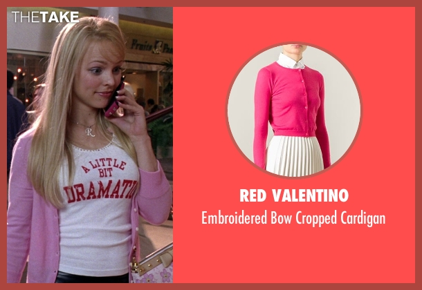 Red Valentino pink cardigan from Mean Girls seen with Rachel McAdams (Regina George)