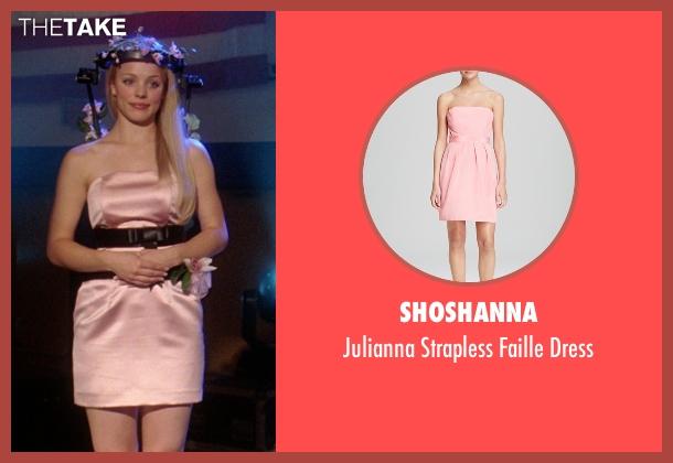 Shoshanna pink dress from Mean Girls seen with Rachel McAdams (Regina George)