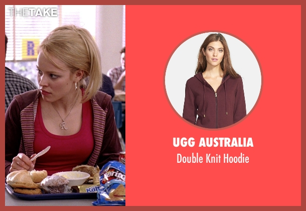 UGG Australia red hoodie from Mean Girls seen with Rachel McAdams (Regina George)