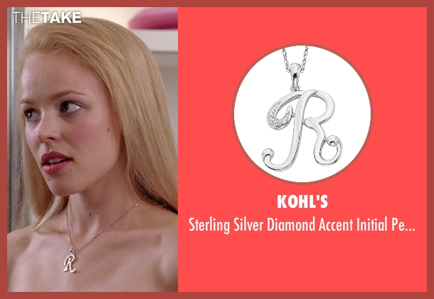 Kohl's silver pendant from Mean Girls seen with Rachel McAdams (Regina George)
