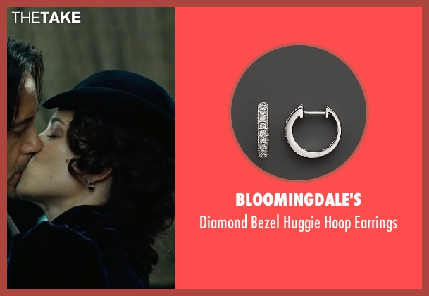 Bloomingdale's white earrings from Sherlock Holmes: A Game of Shadows seen with Rachel McAdams (Irene Adler)