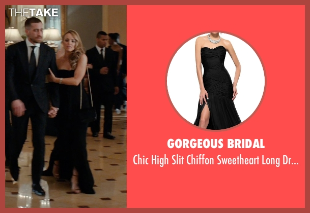 Gorgeous Bridal black dress from Southpaw seen with Rachel McAdams (Maureen Hope)