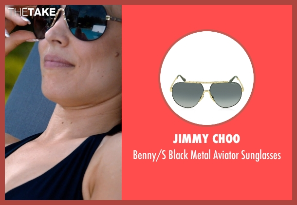 Jimmy Choo black sunglasses from Southpaw seen with Rachel McAdams (Maureen Hope)