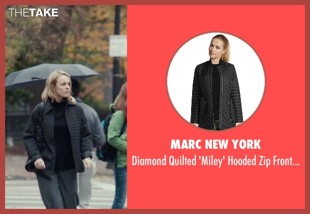 Marc New York black jacket from Spotlight seen with Rachel McAdams (Sacha Pfeiffer)