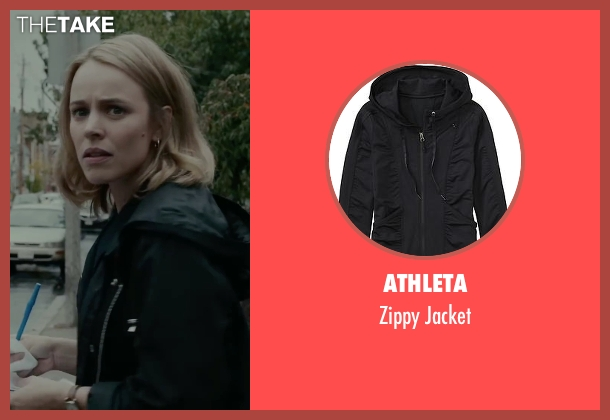 Athleta black jacket from Spotlight seen with Rachel McAdams (Sacha Pfeiffer)