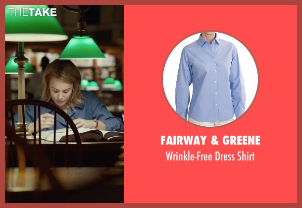 Fairway & Greene blue shirt from Spotlight seen with Rachel McAdams (Sacha Pfeiffer)