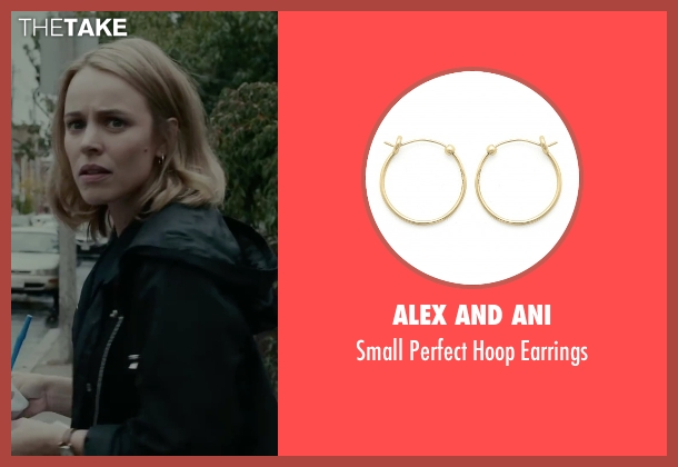 Alex and Ani gold earrings from Spotlight seen with Rachel McAdams (Sacha Pfeiffer)