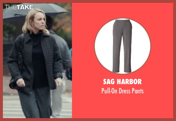 Sag Harbor gray pants from Spotlight seen with Rachel McAdams (Sacha Pfeiffer)