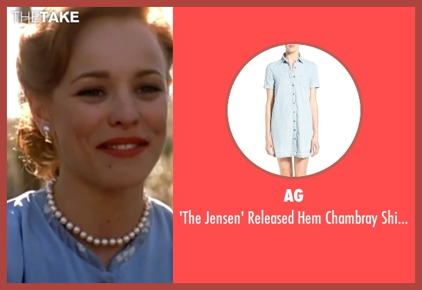 AG blue shirtdress from The Notebook seen with Rachel McAdams (Allie)