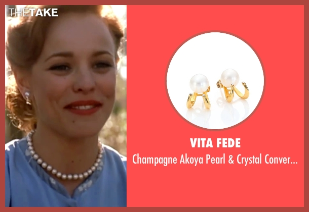 Vita Fede gold earrings from The Notebook seen with Rachel McAdams (Allie)