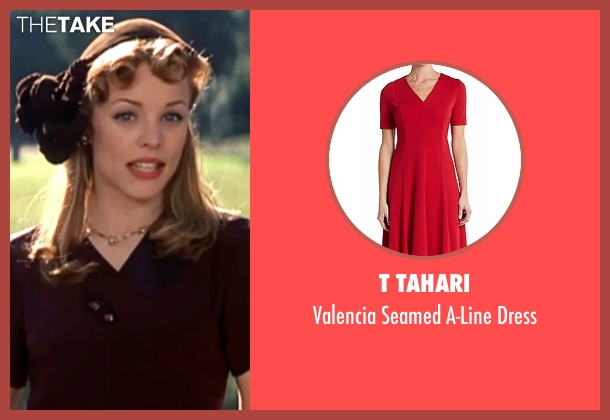 T Tahari red dress from The Notebook seen with Rachel McAdams (Allie)