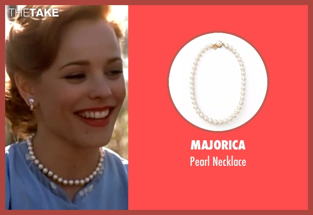 Majorica white necklace from The Notebook seen with Rachel McAdams (Allie)